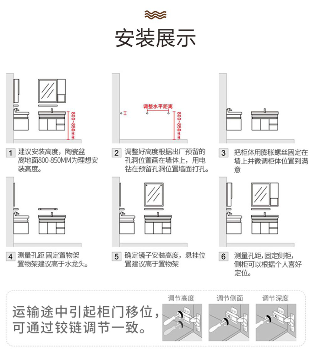 实木浴室柜Y840详情图