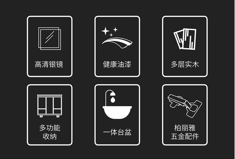 实木浴室柜Y8782详情图